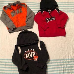 Lot of baby boys jackets/ hoodies